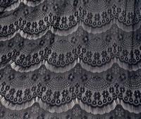 2013062501   fashion  Eyelash lace fabrics  black & white  for dress