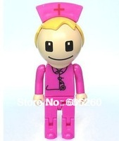 Cartoon beautiful nurse USB 2.0 Enough Memory Stick Flash pen Drive 1-64GB  USB