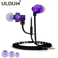 ULDUM 2013  top  hot sale  high sound  earbuds with microphone for cellphone