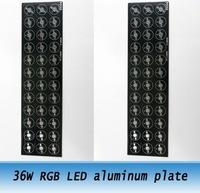 2PCS 36w RGB LED Aluminum Base Plate / 300 x80mm High Power Heat Sink common anode