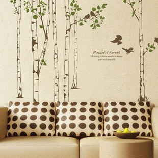New arrival carved large tv colored drawing wall stickers(China (Mainland))