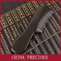 Free shipping 5A grade Original Si Bin Bian-stone massage guasha comb with handle stone needle comb170x45x8mm