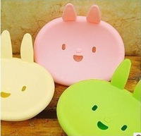 Fashion cartoon momo rabbit small lid soap box  FREE SHIPPING