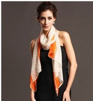Top-grade 100% silk scarf, fashion silk scarf with special European style long silk scarf free shipping