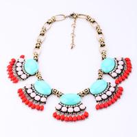 Fashion national design necklace gem necklace