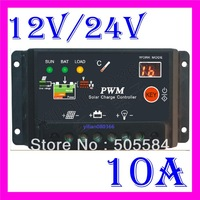 10A PWM Solar Panel Battery Regulator Charge System Digital Controller 12V 24V Auto Switch Indoor Home EMS/DHL shipping