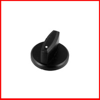 Black Plastic Round Shaped Gas Stove Cooker Rotary Switch Knobs