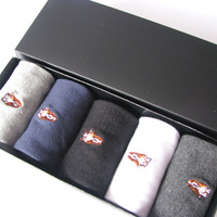 Classic male 100% cotton socks hush puppies men's socks solid color knee-high  five pairs socks gift socks