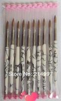 Wholesale+New High quality Beautiful White 4# sizes available Pure kolinsky professional painting acrylic brush