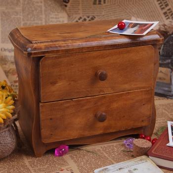 Cosmetics desktop storage cabinet storage jewelry cabinet wool vintage drawer cabinet zakka