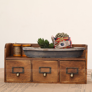 New Arrival Wall zakka miscellaneously storage cabinet desktop cabinet finishing drawer cabinet