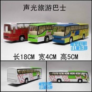 Alloy car model plain toy tourist bus