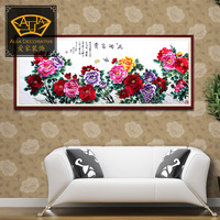 Flowers*handmade Su Zhou embroidery*unique Christmas /wedding gift*innovative handicraft home decoration[No 1025401072]