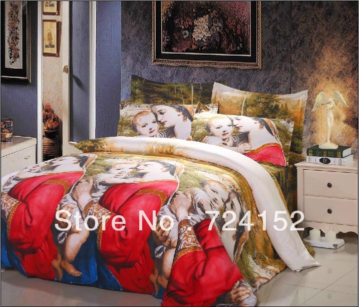 European style cotton bedclothes luxury bed linen unique 3d oil