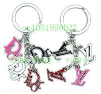 Brand logo key chain  12pcs/lot alloy key chain brand new  key ring Free shipping