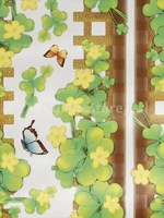 Free Shipping Clover Fence Wall Sticker Removable Wall Art Home Decal