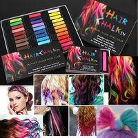 1 Box 6 Color Hot Fashion Hair Chalk Non-toxic Temporary Pastel Stick Color
