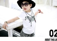 2013 new clothing sets boy summer clothes set Zebra baby Clothing Fashion kids clothes
