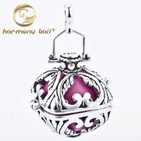 H0-22-E12 S925 silver harmony balls 925 sterling silver Sound pendants Fatory direct sale 22*18mm harmony balls