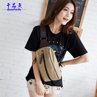 Fish canvas chest pack messenger bag casual female backpack outdoor travel waist pack male