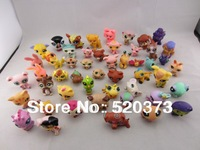 10 pcs/lot Littlest Pet Shop LPS Animasl Loose action Figures Collection toys  for children