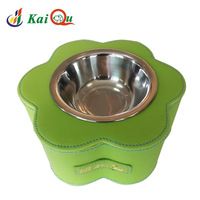 Pet kaiqu flower-shaped mealbox saidsgroupsdirector fanpen pet bowl stainless steel dog bowl