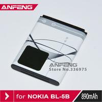 Wholesales 10pcs/lot BL-5B BL 5B Battery for Nokia 3230 5070 5140 5200 5300 5500 6020 6021 6060 free shipping
