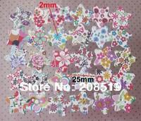WB0106 100pcs Mix Patterns 25mm wood buttons Star shape DIY scrapbook accessories