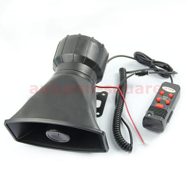 D19Car Electronic Warning Siren Alarm Police Firemen Ambulance Loudspeaker with MIC(China (Mainland))