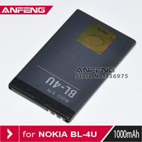 Wholesales 30pcs/lot  BL-4U Battery For Nokia 500 5250 5330 5530 5730 6600 8800 C5-03 E66 E75 Asha 300