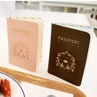 Iconic brief elegant sweet short design passport holder leather passport cover