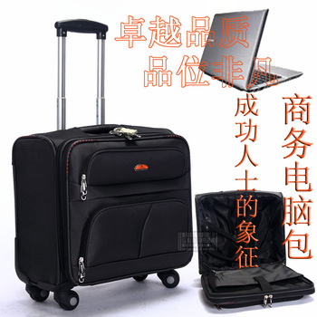 New arrival universal wheels 18 computer case oxford fabric luggage travel bag trolley luggage bag