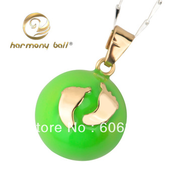 JY001 New promotion 1pc color-painted Footprints pendant 925 Silver Harmony ball Jewelry Pendant 20mm