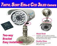 36LED SONY CCD Color Waterproof IR Outdoor surveillance security CCTV camera, 30M IR distance Free shipping, 420tvl-700tvl
