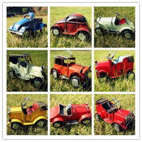 Zakka finishing vintage retro handmade metal car model cars 9 gift