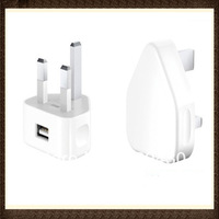 AC Power USB Travel Charger Wall Charger For iPhone 5 4 4S 3GS iPod UK Plug