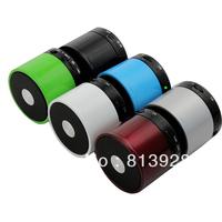 Bluetooth Metal Wireless 3W Mini Speaker HiFi Handsfree Mic Portable Red