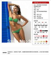 New explosion models women bikini swimsuit sexy shining metal pendant bikini suit swimsuit Free Shipping DST193