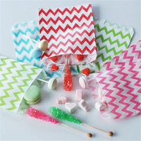 (2000pcs/lot) 33 colors  party Striped chevron and Polka Dot Kraft Paper treat bags Free Shipping by EMS or express