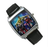 Marvel Universe The Avengers Superhero HULK Captain America Thor Watch Wrist  Free Shipping
