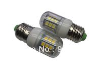 5Pcs/Lot SMD 5050 27 LED 200-240V LED Spot Light 4watt E27 Bulb Lamp Cold white / Warm White 360 Degree Free Shipping  2#