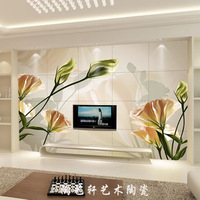 Tile tv wall tile background wall sofa wall tile