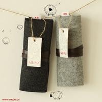 Mupu wood commercial brief wool felt folding pencil