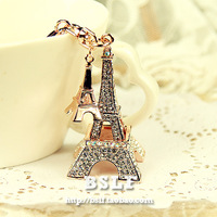 free shipping high quality Ultralarge romantic full rhinestone car keychain key chain bag buckle