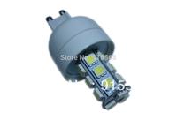 5Pcs/Lot SMD 5050 18 LED 200-240V LED Spot Light G9 Bulb Lamp Cold white / Warm White 360 Degree Free Shipping 2#