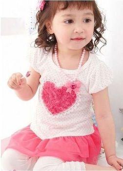 Retail baby girls short sleeve dress flower princess dress children summer clothing free shipping