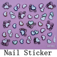 [DGTL-002]Free Shipping+Wholesale 3D Christmas Sticker Nail Art Decals Decoration,10sets/lot