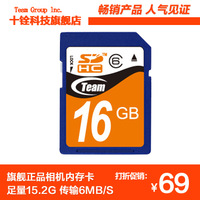 Team 16gb class6 sd memory card camera ram card flash memory card high speed card