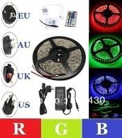 IP65 Waterproof 5050 Led RGB Strip Light 12V 60Led/Meter 5M/Roll + 44 Key IR Remote Controller +12V 5A UK/US/AU/EU Power Supply