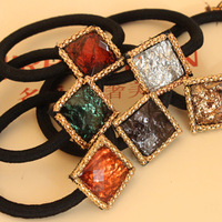 2013 the latest fashion imitation stone square Girl Kid Children women elastic hair bands